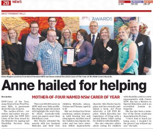 2013 NSW Carers Award